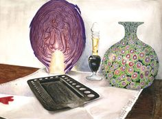 68, Rue J. J. Rousseau - Paris (30 x 22 watercolor on paper)  https://www.facebook.com/Riflessi-e-trasparenze-di-Germana-Galdi-152645784768295/