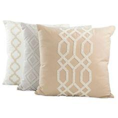 Iman Home Graphic Chic Square Throw Pillow - BedBathandBeyond.com