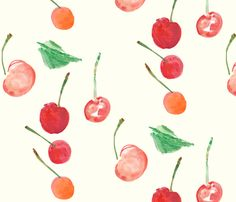 cestlaviv_cherry clafoutis fabric by cest_la_viv on Spoonflower - custom fabric