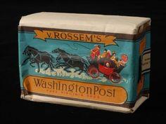 pakje tabak van Van Rossem, productnaam Washington Post