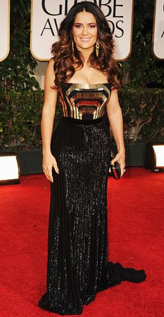 Salma Hayek - Golden Globes - Gucci