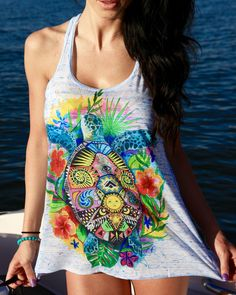 Premium Turtle Life Girls Tank