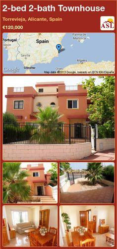 2-bed 2-bath Townhouse in Torrevieja, Alicante, Spain ►€120,000 #PropertyForSaleInSpain