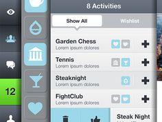 "Beautiful ""html5 responsive app"" interface design found on Dribbble."