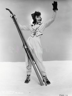 Ida Lupino, 1939 - could that ski outfit be any cuter?!