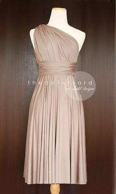 Short+Straight+Hem+Light+Taupe+Bridesmaid+by+thedaintyard+on+Etsy,+$34.00