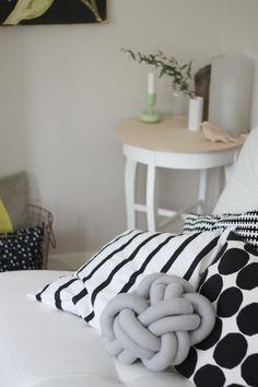 DIY knudepude-pillow