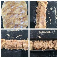 Stablebrød med rabarbrafyll og nutellaglasur Pork, Meat, Kale Stir Fry, Pork Chops