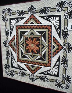 Counterpoint by Tom Russell displayed at the Australian Machine Quilting Festival ~ blog post by Cindy Needham: G'day!!!