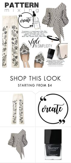 """""""Pattern Mxing"""" by clotheshawg ❤ liked on Polyvore featuring Victoria, Victoria Beckham, Oscar de la Renta, Johanna Ortiz, Butter London and Betsey Johnson"""
