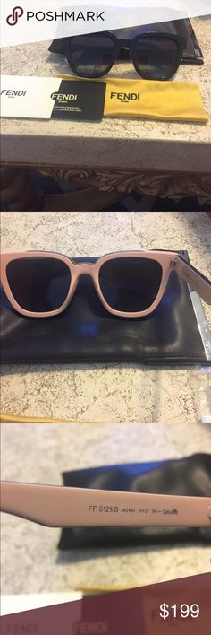 Fendi sunglasses Authentic Fendi color block sunglasses, no scratches. Black from outside the inner lining is pink (shown in picture) Fendi Accessories Sunglasses