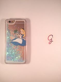 Alice in wonderland Liquid Glitter Blue Hearts iPhone 6+ 6 plus 6, 6s, 5, 5s, SE, SE phone case Disney inspired glitter cover by GracesGlitterCases on Etsy https://www.etsy.com/listing/291174457/alice-in-wonderland-liquid-glitter-blue
