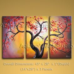 Elegant Designed Contemporary wall art Tree oil painting on canvas. This painting has been stretched on wooden bar and custom framed by a specialist read Multi Canvas Painting, 3 Piece Canvas Art, Modern Oil Painting, Modern Canvas Art, Abstract Canvas Wall Art, Large Canvas Wall Art, Contemporary Wall Art, Oil Painting Abstract, Modern Artwork