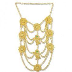 Parures Orientales Plaqué Or - Collier Oriental Pectoral - Awina - CC802  bijou, bijoux, oriental, Maroc, Algérie, Afrique, plaqué or, tradition, ... 099632b5fe47