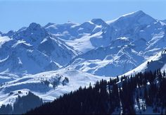 Kitzbüheler Alpen: Blick von Kitzbühel zum Skigebiet  Jochberg