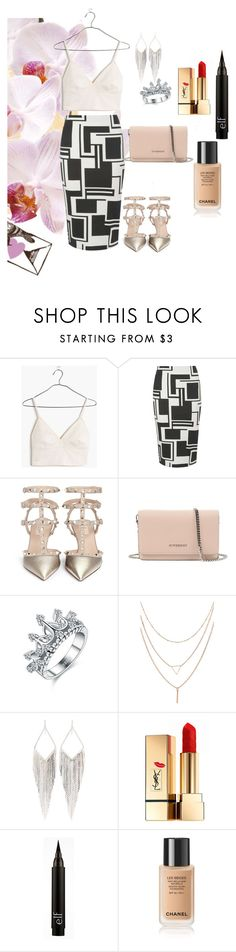"""That's what you got"" by poojadevkota ❤ liked on Polyvore featuring Madewell, Dorothy Perkins, Valentino, Givenchy, Jules Smith, Yves Saint Laurent, skirt, valentino and pencil"