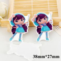 50pcs Cartoon Little Charmers Resin Flatback Kawaii Lavender Planar Resin for DIY Christmas Home Decoration Accessories