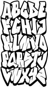 easy graffiti letters alphabet - Google Search