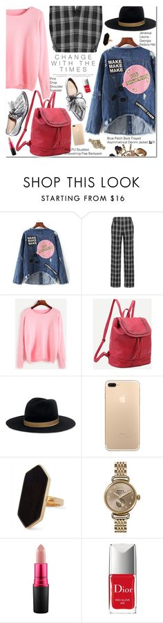 """Shein"" by oshint ❤ liked on Polyvore featuring Proenza Schouler, Loeffler Randall, Janessa Leone, Jaeger, Shinola, MAC Cosmetics and Christian Dior"