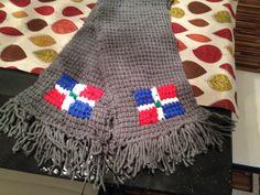 Schal mit dominikanischer Flagge
