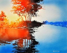 Robert W Cook – Brazos Reflections – watercolor http://fineartamerica.com/featured/brazos-reflections-robert-w-cook.html