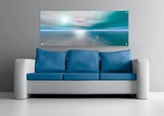 Contemporary art in aqua, white and grey. Cool Art, Swimming Pools, Contemporary Art, Abstract Art, Sky, Landscape, Digital, Furniture, Home Decor