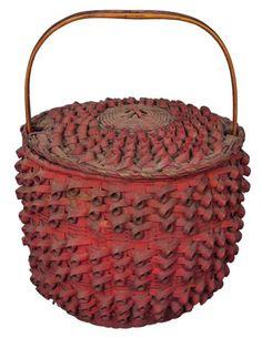 19th c. Native American Splint Basket
