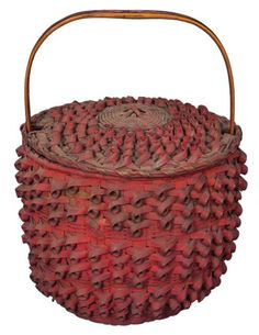 19th c. Native American Splint Basket