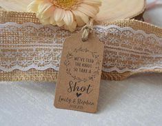 Wedding Favour TAKE A SHOT Thank You Gift Tag Personalised
