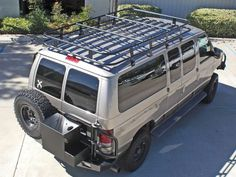 Custom Aluminum Roof Racks for Ford, Chevy, Dodge, Sprinter, and Nissan NV vans. Designed and fabricated by Aluminess Products, Inc.