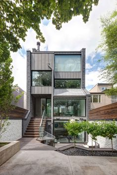 Berryman Street Residence by AUDAX Architecture Berryman Street Residence is a project completed by AUDAX Architecture in 2014.  The home is located in Toronto, Ontario, Canada, and covers an area of 3,700 square feet.