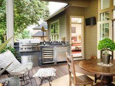 Desain Dapur Mungil Terbuka Menghadap Taman Small Outdoor Kitchens Patio Kitchen Grill