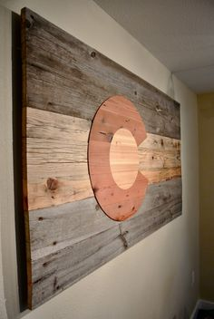 Reclaimed Wooden Colorado Flag by WoodworkingandDesign on Etsy, $250.00