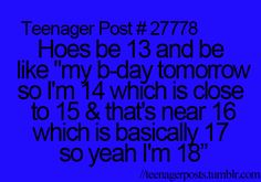 Teenagerposts --- Am I the only one who just said this out loud in the girliest voice ever?
