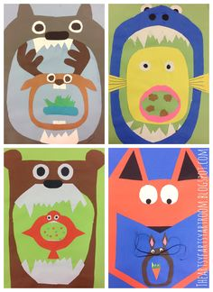 Ravintoketju -- The Artsy Fartsy Art Room: Stylized Food Chains with Grade 4th Grade Science, Science Art, Science Classroom, Art Classroom, School Art Projects, Projects For Kids, Food Chain Activities, 5th Grade Art, Art Lessons Elementary