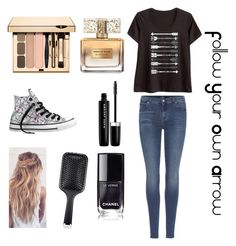 """Arrows"" by smileforever1654 ❤ liked on Polyvore featuring LC Trendz, 7 For All Mankind, Givenchy, Marc Jacobs, GHD, Converse, Arrow, followyourownarrow, outfit and polyvoreeditorial"