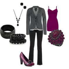 Black & Burgandy, created by amyjoyful1.polyvore.com