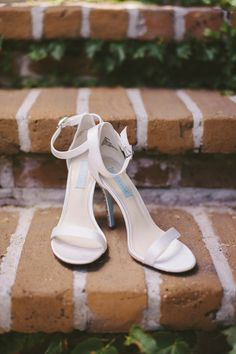 Elegant white strappy heels for the bride! {Vitaly M. Photography}