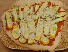 Sweet potato and squash pizza