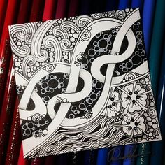 Fabulous Drawing On Creativity Ideas. Captivating Drawing On Creativity Ideas. Mandala Doodle, Tangle Doodle, Tangle Art, Zen Doodle, Doodle Art, Doodle Designs, Doodle Patterns, Zentangle Patterns, Art Patterns