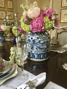 Arrival sale for our mega June porcelain container- our biggest yet plus a giveaway! - The Enchanted Home Fru Fru, Enchanted Home, Blue And White China, Birthday Dinners, Ginger Jars, French Country Decorating, White Decor, Traditional House, Wine Tasting