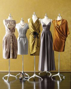 mixed metallic bridesmaid dresses