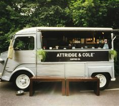 'Let's hope it still runs- Attridge and Cole Coffee Truck' said previous pinner • citroen H Van • French cuisine
