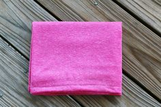 Heathered Fuschia - Jersey Knit Swaddle Stretch Snuggle Baby Girl Blanket Pink Mint Chocolate Chip