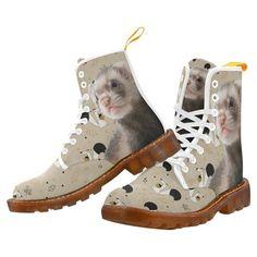 #BFCM #CyberMonday #TeeAmazing - #e-joyer Ferret White Boots For Men - AdoreWe.com