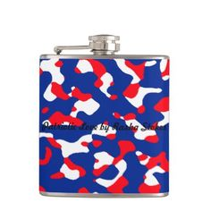 Patriotic Assembly Camouflage - Rasha Stokes Hip Flask - white gifts elegant diy gift ideas