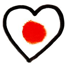 Heart for Japan by Delphine Perrot: Logo to encourage donations for humanitarian relief in Japan #Illustration #Japan #Delphone_Perrot