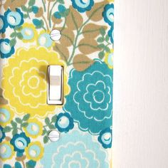 Light Switch Plate Cover wall decor  yellow and by maisonwares, $6.00
