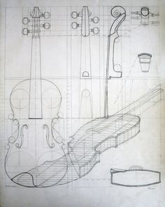 violin whiteprint