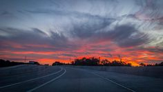 Beautiful sunset on the way home. #sunset #clouds #sky #road #beautiful #beauty #landscape #landscapephotography #nature #like #likeforlike #follow #followforfollow #f4f #l4l